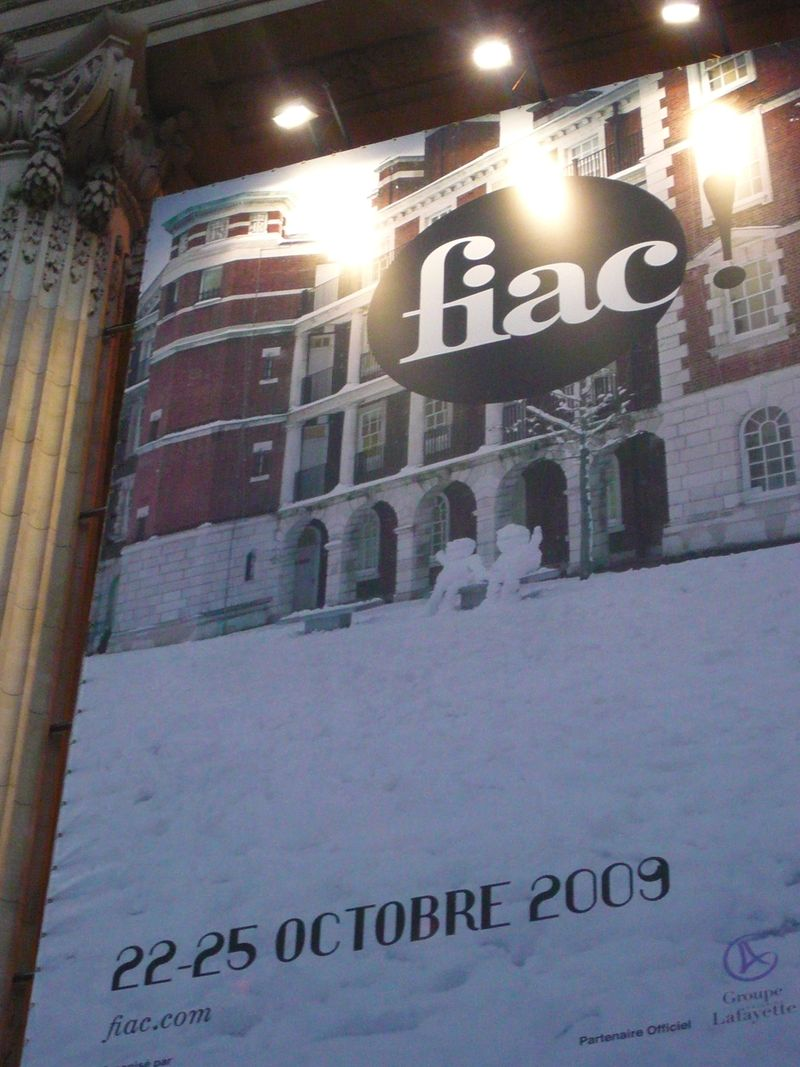 Fiac gd palais blogreporter 2009