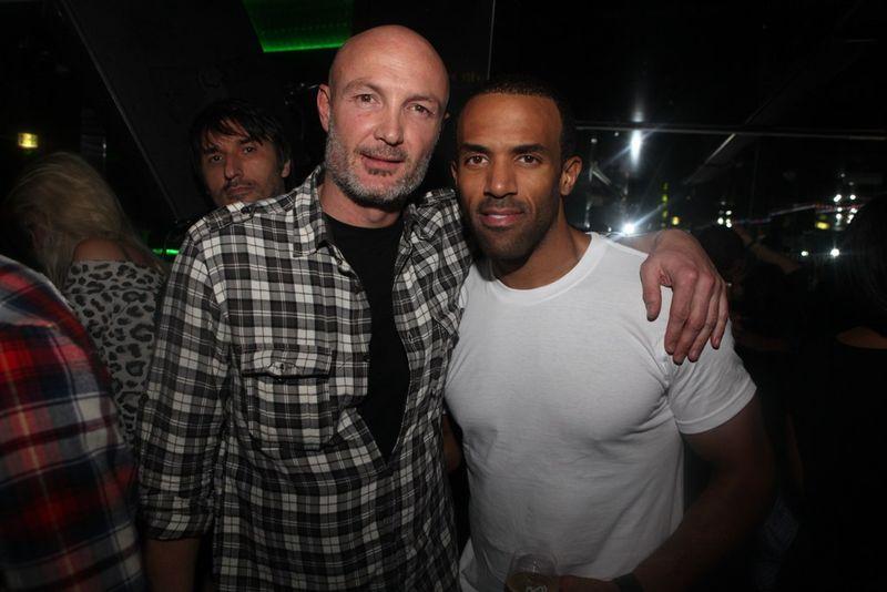 Franck Leboeuf et Craig David Vip