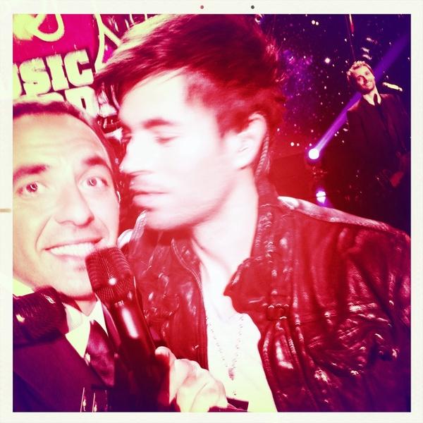 Nikos , Enrique photo I Phone Twitter Blogreporter