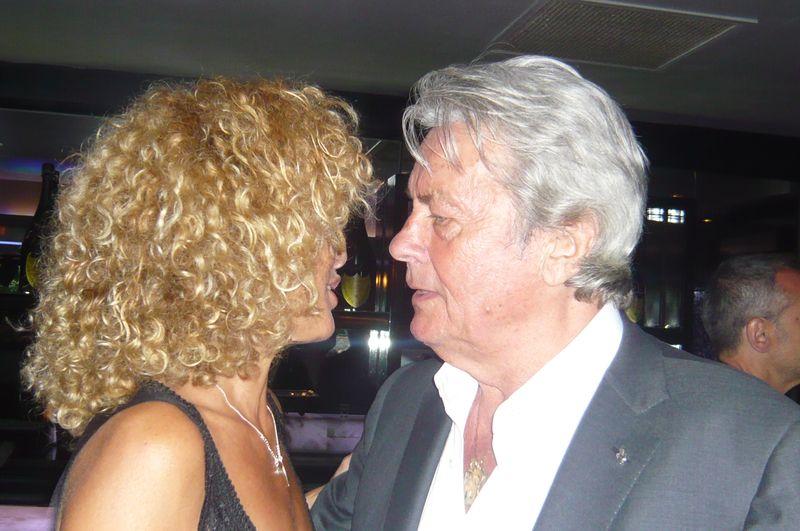 Alain Delon defilé Helena Sorel