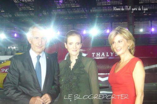 Tgv_michele Laroque- Guillaume pepy- mme cisko-morizet_Blogreporter