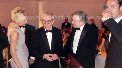 Woody Alle, De Niro, Jud Law dinner Cannes