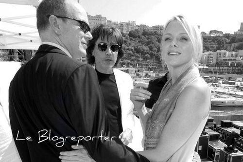 Albert de Monaco Charlène et Jean Michel Jarre a Monaco blogreporter