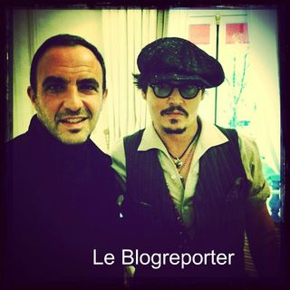 Nikos et johnny depp-blogreport