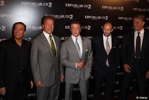 Expendables-2-premiere-Paris-Blogreporter, stallone, sharzzenneger, vandamme