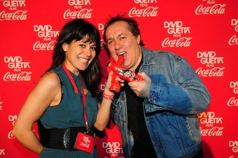 Virginie Zucconi et le Blogreporter au concert David Guetta