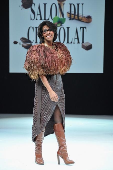 Salon du chocolat 2012- Audrey pulvar défile_Leblogreporter
