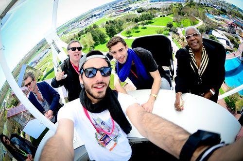 Futuroscop-Aerobar-Marwan-Berreni, Firmine-Richard, Hugo Mayer et Anthony Ghnassia (photo)