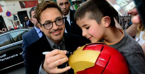 IronMan3, Robert Downey à Paris (photo Anthony Ghnassia-Vision)
