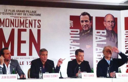 Conference presse, monuments-men_Blogreporter