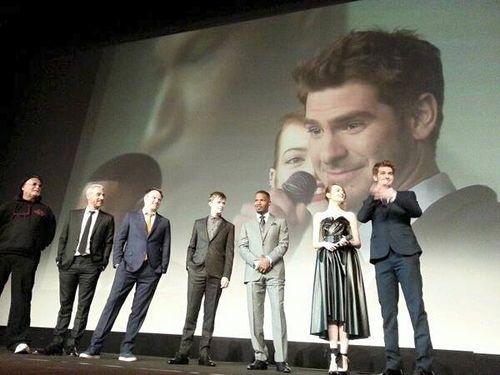 Spiderman au Grand Rex premiere avec Andrex-Garfieland EmmaStone_Blogreporter