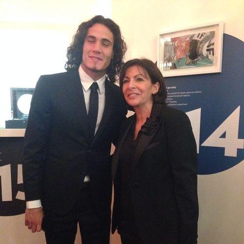 Cavanni et Anne Hidalgo
