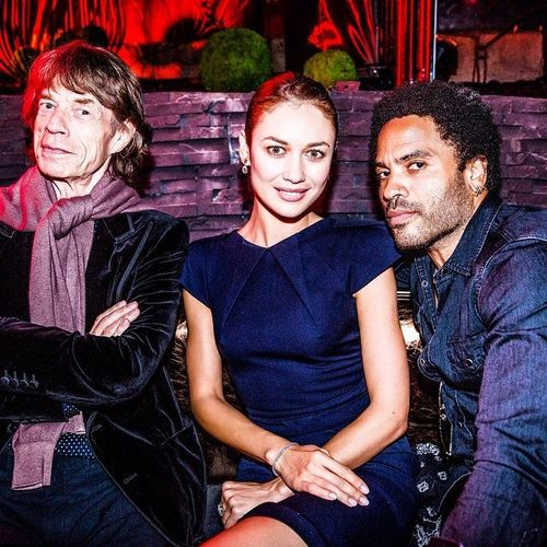 MickJagger, Kravitz et Olga -Arc Paris-Leblog