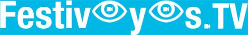 Logo FINAL FestiveyesTV blanc sur bleu WEB