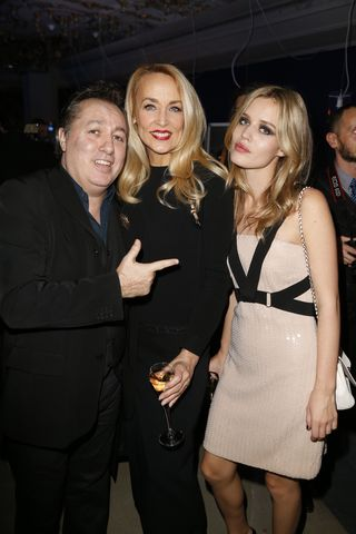 Hugo Mayer with Jerry Hall andd Georgia May Jagger