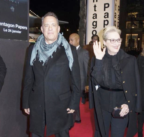Tom Hanks  Merry streep  pentagone  paris