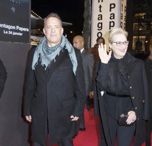Tom Hanks  Merry streep  pentagone  paris
