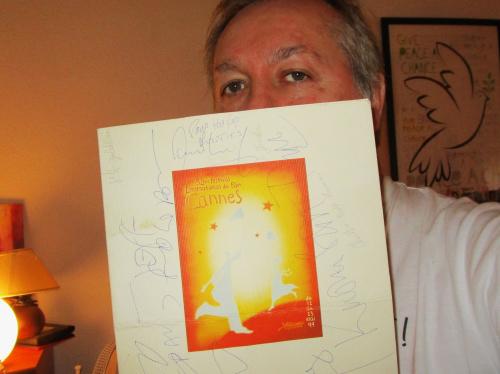 Hugo Mayer  menu autographe diner festivalcannes 1999