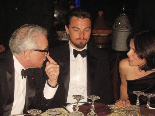 Marrakech Diner Royal with Di Caprio and Scosese