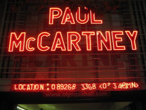 Paul Mc cartney Olympia paris 22 oct 2007